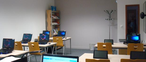 Espace Public Numérique de la Communauté de communes de Mortagne-au-Perche, où Mickaël, conseiller numérique, réalise ses ateliers.